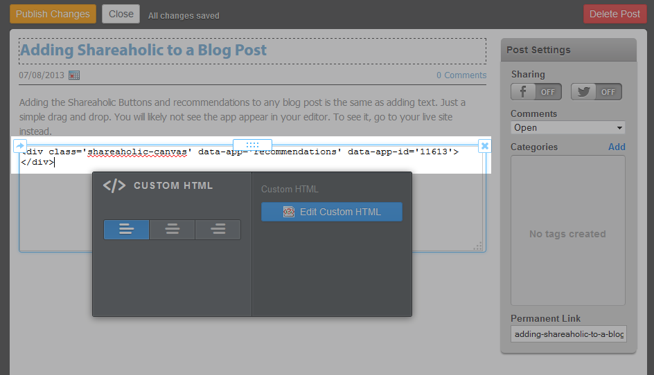 weebly how to add top of page button