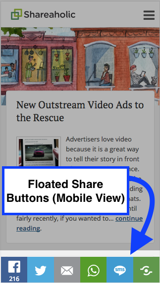 Floated Share Buttons (Mobile)