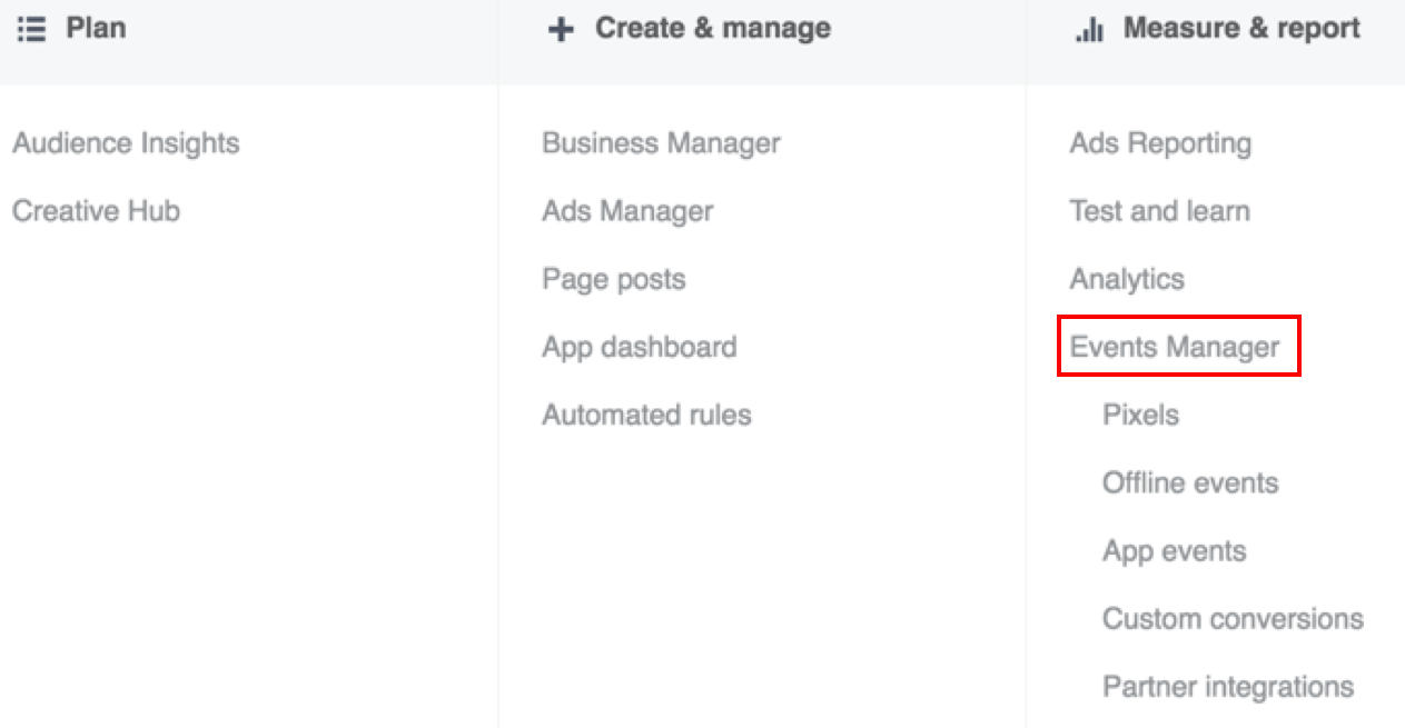 Find Manager how do i find my facebook pixel id? – shareaholic helpdesk