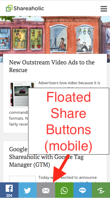 Floated Share Buttons: How to turn off/on – Shareaholic Helpdesk